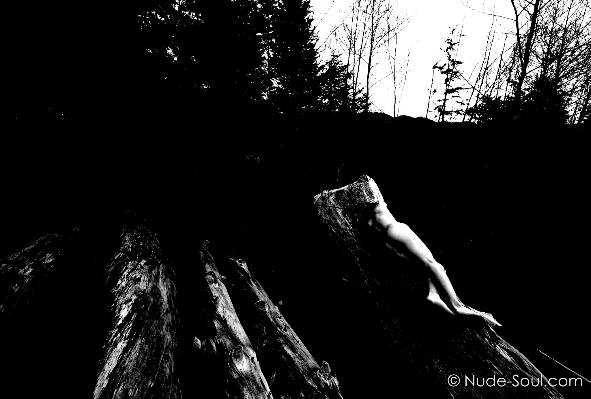 Desolation and the Human Form 11 - Darkness of Humanity in Black and White - Nude Male Photography Art