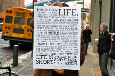 Inspiration: THIS IS YOUR LIFE.
