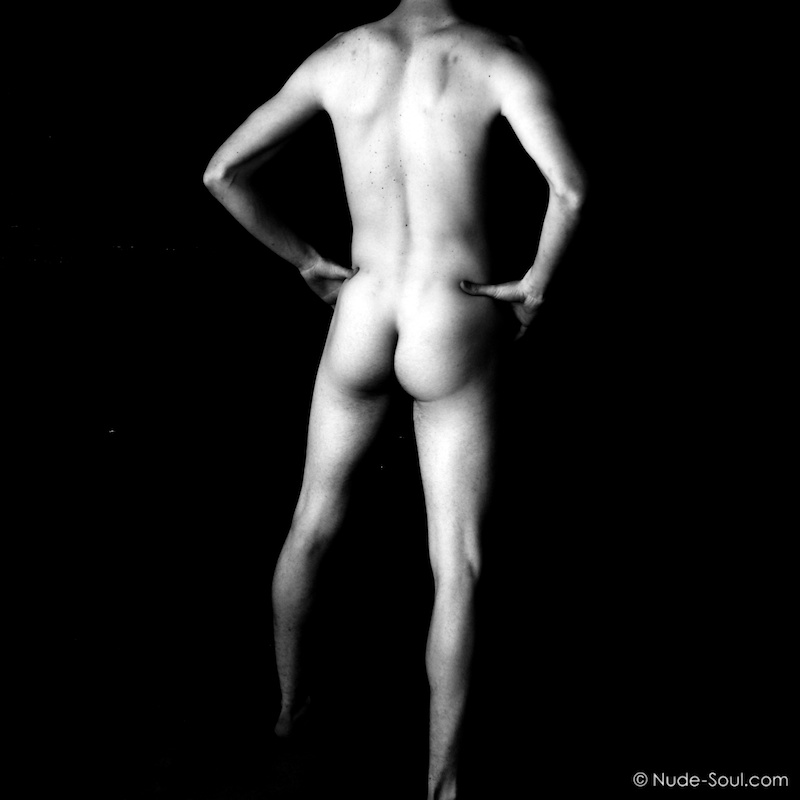 A bum, behind, butt, buttocks, cheeks, derrière. Self portrait male photo art -  Within Walls and Windows