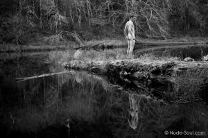Nude Reflective Dreamer