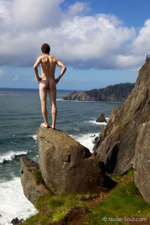 Naked Prince on the Edge of Ocean